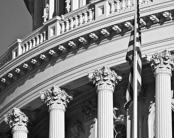 Washington DC Art, Capitol Rotunda, 16x20 Fine Art Black and White Photograph, Washington DC Print, Washington DC Photography