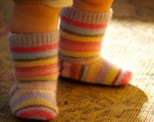 Wool Slipper Boots - 12 to 24 months, non slip - seconds