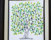 Custom Wedding Guest Book Alternative Original Wedding Guest Book Wedding Guestbook Thumbprint Fingerprint Tree Guestbook Wedding Tree