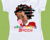 Bubble Gum Queen, Original, Girls African American, Girls retro tees, ethnic girls shirt, Birthday T-Shirt or Tank by ChiTownBoutique.etsy