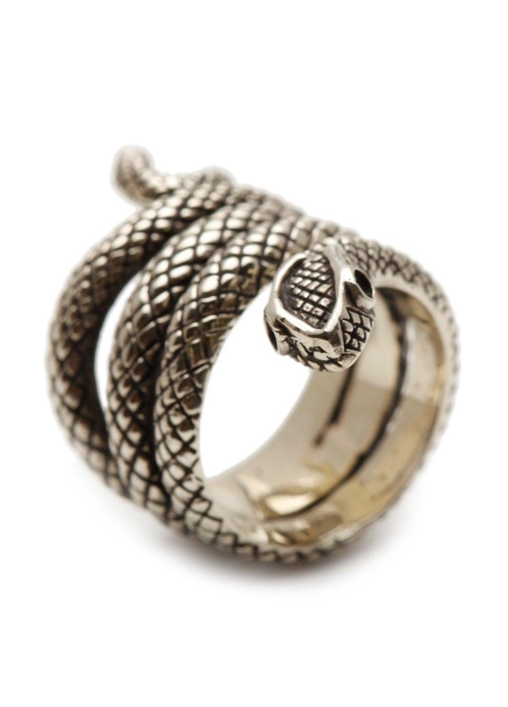 silver snake ring sterling jewelry by carpediemjewellery