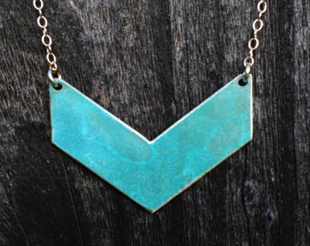 Chevron Patina Necklace