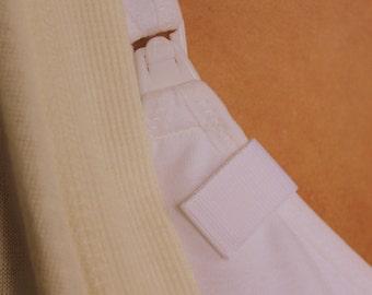 Mammary-Minders Nursing Reminder in White twill ((H4)
