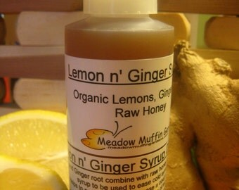 Lemon & Ginger Raw Honey Syrup, Cold Symptoms, Throat, Cough, Tea