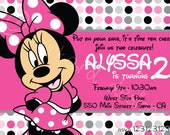 DIY minnie mouse birthday invitation