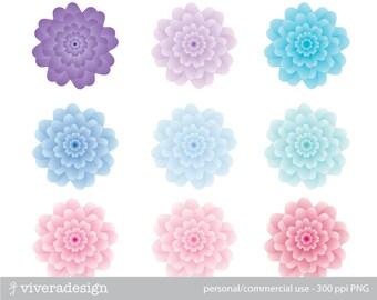 Winter Bloom - Nine Blooming Flowers in Soft Colors