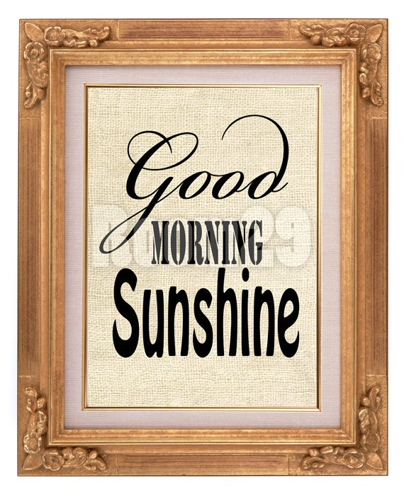 Good Morning Sunshine Download : Instant download good morning sunshine image iron on