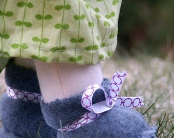 Instant download Waldorf Doll Shoes Sewing Tutorial