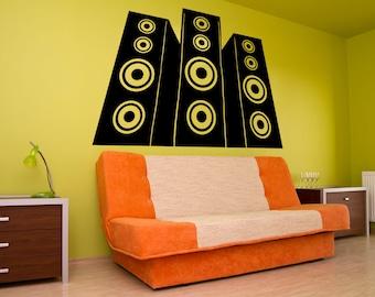 Vinyl Wall Decal Sticker Speakers OSMB898B