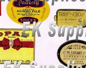 Vintage Decorative Food and Spice Label Adhesive Sheets