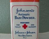 Vintage Johnson's Baby Powder Tin 100th Anniversary 1980s