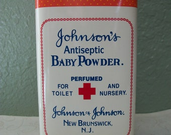 Vintage Johnson's Baby Powder Tin 100th Anniversary 1980s