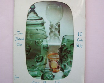 Vintage Postcards History of Glass Corning Museum New York 1950's