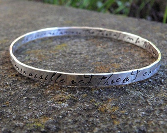 Birth Designs -An Invisible Red Thread...a Sterling Adoption Bangle