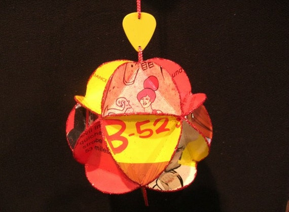 The B-52s Album Cover Ornament Made Of Record Jackets - 80s New Wave Music