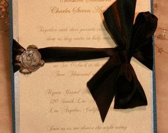 Elegant Monogram Wedding Inviation -   Couture Wedding