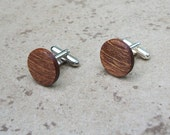Mahogany  Wood Cuff links, Gift Box ready - 922