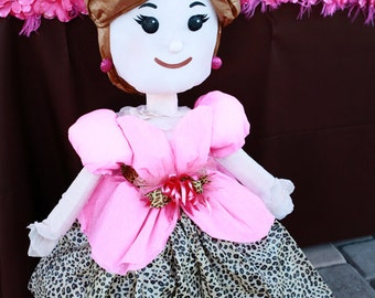 Leopard Princess Pinata, Leopard Party, Princess Party, Princesa