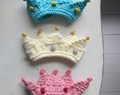 Royal Baby Crown Knitting Pattern, photo prop, bulky yarn, quick knitting pattern