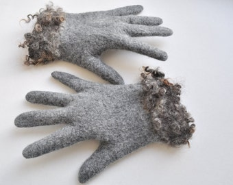 Felted gloves -- handmade to order