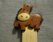 Wooden Horse Bookmark