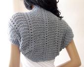 Light Gray  Elegant Shrug-Knitting  Shrug - Any Season-Grey Bolero-New Item
