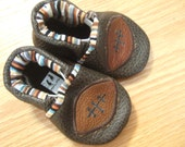 newborn baby shoes with footballs