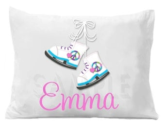 Ice Skating Pillowcase ,  Personalized Pillow Case