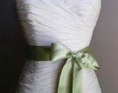 SAGE Sash - 2 Inch Simple Satin Bridal Sash - Ready to Ship