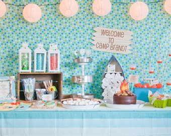Summer Camp/Camping Printable Party Collection - As Seen On Hostess With The Mostess - Petite Party Studio