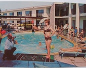 Just Reduced! Bikini Girl Congress Inn Iowa Postcard Early 60s