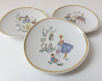 Vintage Plates Mid Century