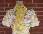 Vintage Italian Valentino 2 Piece Spring Floral Suit Size XSMALL