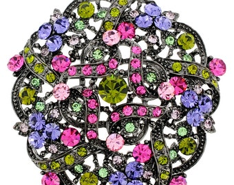 Multi-Color Flower Wedding Brooch/ Pendant 1000981
