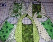 Quilted St. Patrick's Day Bibs
