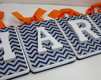 Chevron Background Letter Plaques -Smooth- SOLD PER LETTER