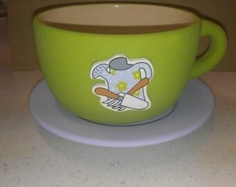 Gardening Tools Tea Cup Planter