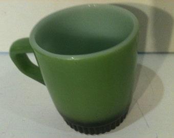 Vintage Green and Black Anchor Hocking Fire King Mug