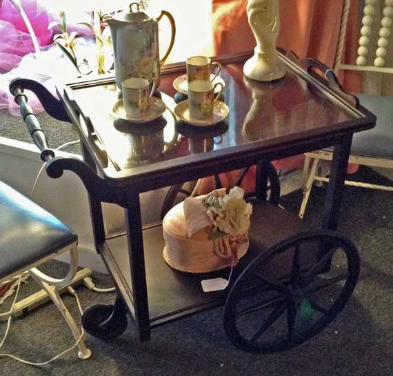 Antique Tea Cart -  Removable Tray