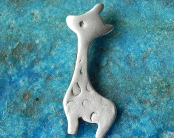 Cute giraffe sterling silver pendant animal charm gifts under 25 gift for her stocking stuffers