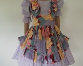 Vintage 1950's dress fun dress full swing skirt apron dress at LilaCInspirations