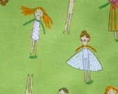 Crafty Chloe Heather Ross Clothespin People green FQ or more