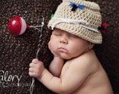 Baby Boy Fishing Hat  Newborn Photo prop