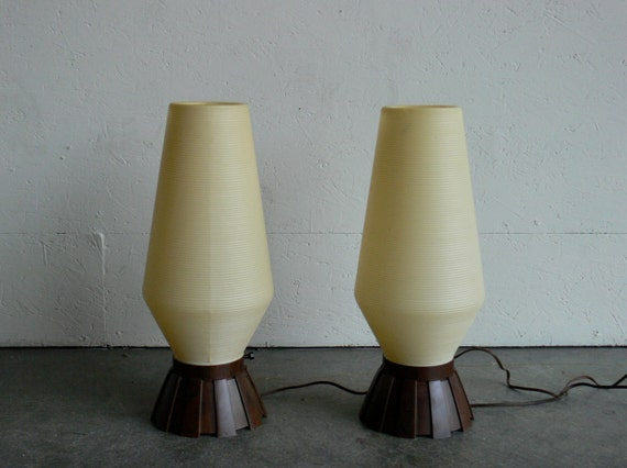 Vintage Mid Century Modern Beehive Table/Floor Lamps (Set of 2)