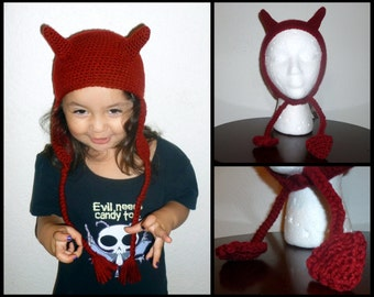 Devil Hat-Unisex-All Sizes--Made to Order
