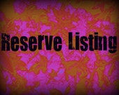 Reserve listing for Diann