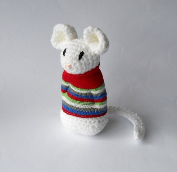 Amigurumi crocheted toy stuffed animal mouse by ...