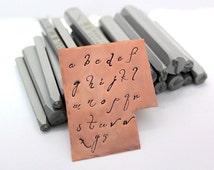 Monogram Daniela Font Alphabet Letter Lowercase Metal Stamps 8-9mm Metal Design Stamp Jewelry Stamping Tool