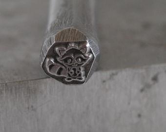 Raccoon Design Stamp Metal Stamp LARGE- 3/8 in.Steel STamp-Metal Stamping Tool-Perfect for Metal Stamping and Metal Work