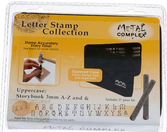 Metal Stamping Set-Metal Stamp Kit in Storybook Font Uppercase-3mm -Alphabet Letter Stamp Set-Metal Supply Chick Jewelry Stamping Supplies